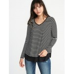 Maternity Double-Layer Nursing Swing Top
