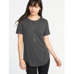 Sparkle-Knit Luxe Tee for Women