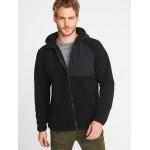 Go-Warm Sherpa Nylon-Trim Hooded Jacket for Men