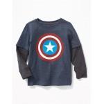 Marvel&#153 Captain America 2-in-1 Tee for Toddler Boys