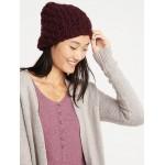 Textured Basket-Weave Beanie for Women
