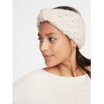Textured Basket-Weave Earwarmer for Women