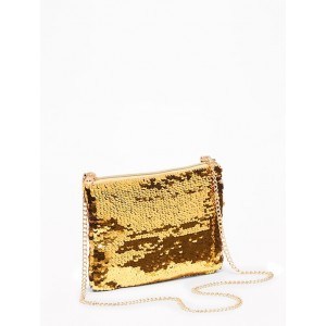Flip-Sequin Zip-Top Purse for Girls