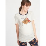 Maternity Fitted Holiday-Graphic Tee