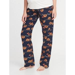 Maternity Printed Flannel Sleep Pants