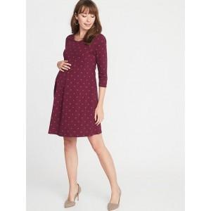 Maternity Jersey Fit & Flare Dress