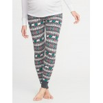 Maternity Patterned Thermal-Knit Leggings