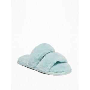 Faux-Fur Slide Slippers for Girls
