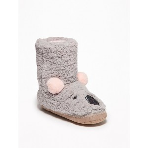 Sherpa Critter Slipper Boots for Girls