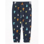 Patterned Jersey Leggings for Toddler Boys