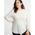 Brushed-Knit Plus-Size Top