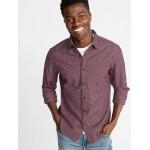 Slim-Fit Textured Pattern Shirt for Men