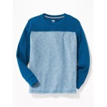 Color-Blocked Thermal-Knit Football Tee for Boys