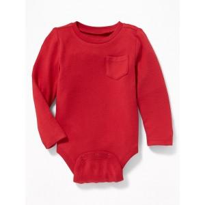 Plush-Knit Bodysuit for Baby
