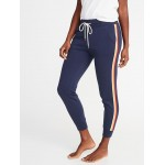 French Terry Side-Stripe Joggers for Women