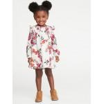 Crepe Floral Babydoll Dress for Toddler Girls