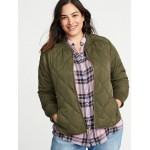 Lightweight Quilted Plus-Size Jacket