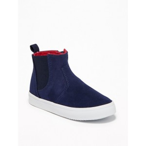 Faux-Suede Chelsea High-Tops for Toddler Boys