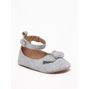 Jersey Bow-Tie Ballet Flats for Baby