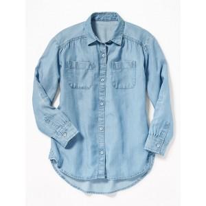 Tencel&#174 Chambray Tunic Shirt for Girls