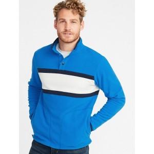 Micro Performance Fleece Color-Blocked Pullover for Men
