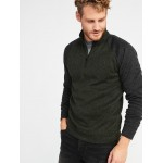 Color-Block Sweater-Fleece 1/4-Zip Pullover for Men