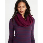 Rib-Knit Infinity Scarf for Women