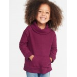 Cozy Cowl-Neck Pullover for Toddler Girls