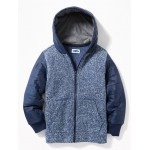 Sweater-Fleece/Quilted Fusion Zip Hoodie for Boys