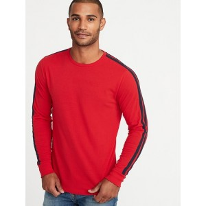 Soft-Washed Sleeve-Stripe Tee for Men
