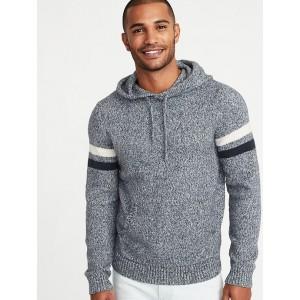 Built-In Flex Sleeve-Stripe Sweater Hoodie for Men