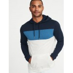 Color-Blocked Hooded Tee for Men