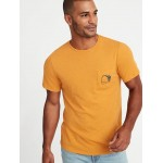 Soft-Washed Graphic Pocket Tee for Men
