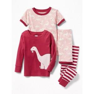 4-Piece Dino-Graphic Sleep Set for Toddler Boys & Baby