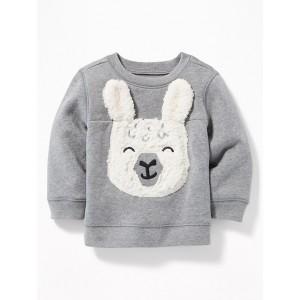 Llama-Graphic Fleece Sweatshirt for Baby