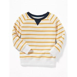 Striped Raglan Crew-Neck Sweatshirt for Toddler Boys