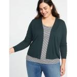 Short Open-Front Plus-Size Sweater