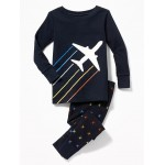 Airplane-Graphic Sleep Set for Toddler & Baby