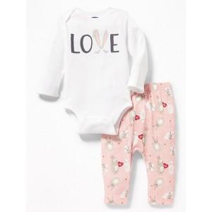 2-Piece Graphic Bodysuit & Leggings Set for Baby
