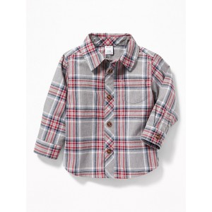 Button-Front Poplin Pocket Shirt for Baby