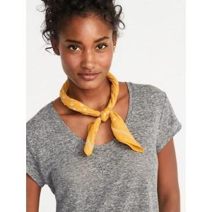 Printed Cotton Neckerchief for Women