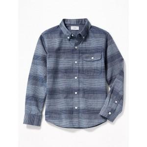 Long-Sleeve Dobby Shirt for Boys