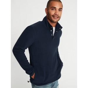 Micro Performance Fleece 1/4-Snap Mock-Neck Pullover for Men