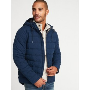 Quilted Cotton Hooded Jacket for Men