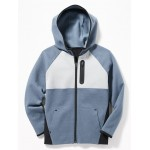 Dynamic Fleece 4-Way-Stretch Color-Block  Zip Hoodie for Boys