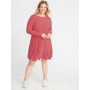 Plus-Size Jersey Swing Dress