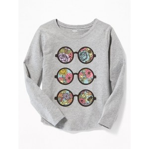 Owl-Graphic Tee for Girls
