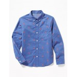 Built-In Flex Classic Lobster-Print Shirt for Boys