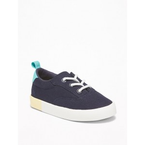 Canvas Lace-Up Sneakers For Toddler Boys