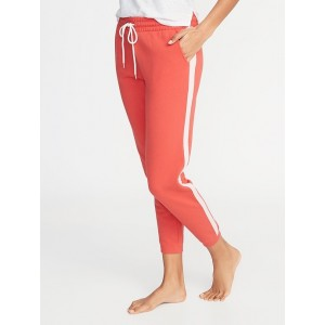 Side-Stripe French-Terry Joggers for Women